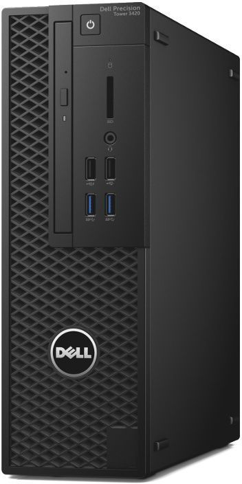 Компьютер DELL Precision 3420, Intel Xeon E3-1245 v6, DDR4 16Гб, 1000Гб, 256Гб(SSD), Intel HD Graphics P630, DVD-RW, Windows 10 Professional, черный [3420-4520] адаптер dell intel ethernet i350 1gb 4p 540 bbhf