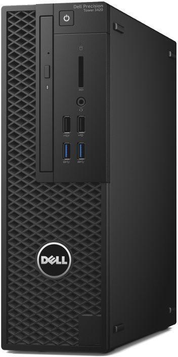 Компьютер  DELL Precision 3420,  Intel  Xeon  E3-1245 v6,  DDR4 16Гб, 1000Гб,  256Гб(SSD),  Intel HD Graphics P630,  DVD-RW,  Windows 10 Professional,  черный [3420-4520]