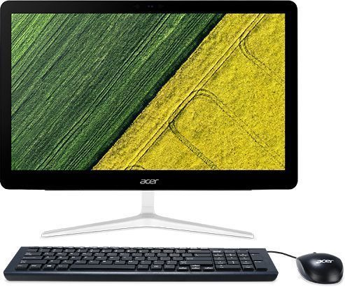 Моноблок ACER Aspire Z24-880, Intel Core i5 7400T, 4Гб, 1000Гб, Intel HD Graphics 630, DVD-RW, Free DOS, серебристый [dq.b8ver.004] ноутбук acer aspire a315 31 c3cw 15 6 intel celeron n3350 1 1ггц 4гб 500гб intel hd graphics 500 windows 10 черный [nx gnter 005]