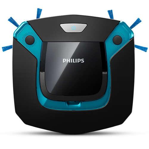 Робот-пылесос PHILIPS SmartPro Easy FC8794/01, 25Вт, черный/синий