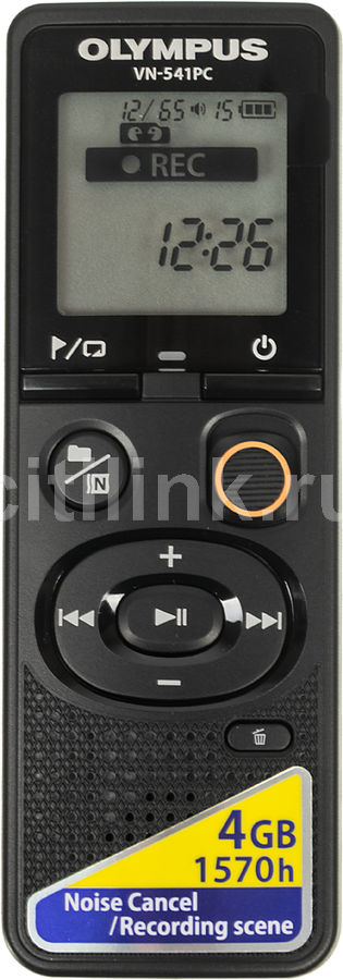 Диктофон OLYMPUS VN-541PC + E39 Earphones 4 Gb, черный olympus vn 741pc 4gb