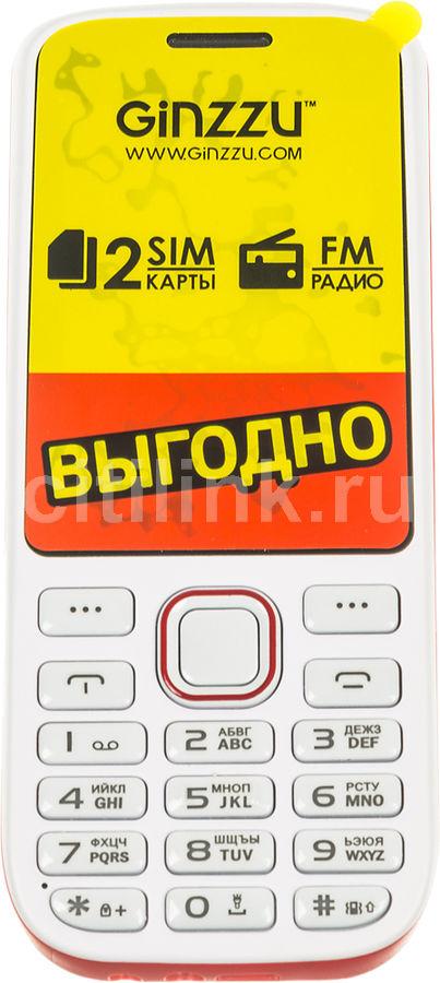 Мобильный телефон GINZZU M201,  белый