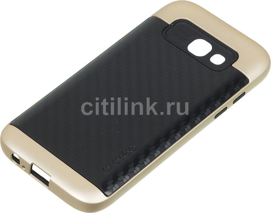 Чехол (клип-кейс) SAMSUNG Amy Classic, для Samsung Galaxy A5 (2017), золотистый [gp-a520kdcpbaa]