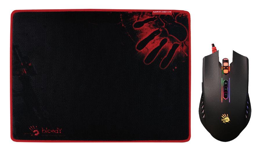 Мышь A4 Bloody Q8181S оптическая проводная USB, черный