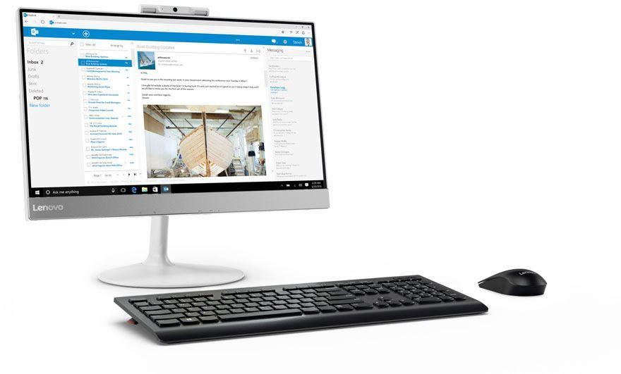 Моноблок LENOVO V410z, Intel Core i3 7100T, 4Гб, 500Гб, Intel HD Graphics 630, DVD-RW, noOS, белый [10qw0007ru]
