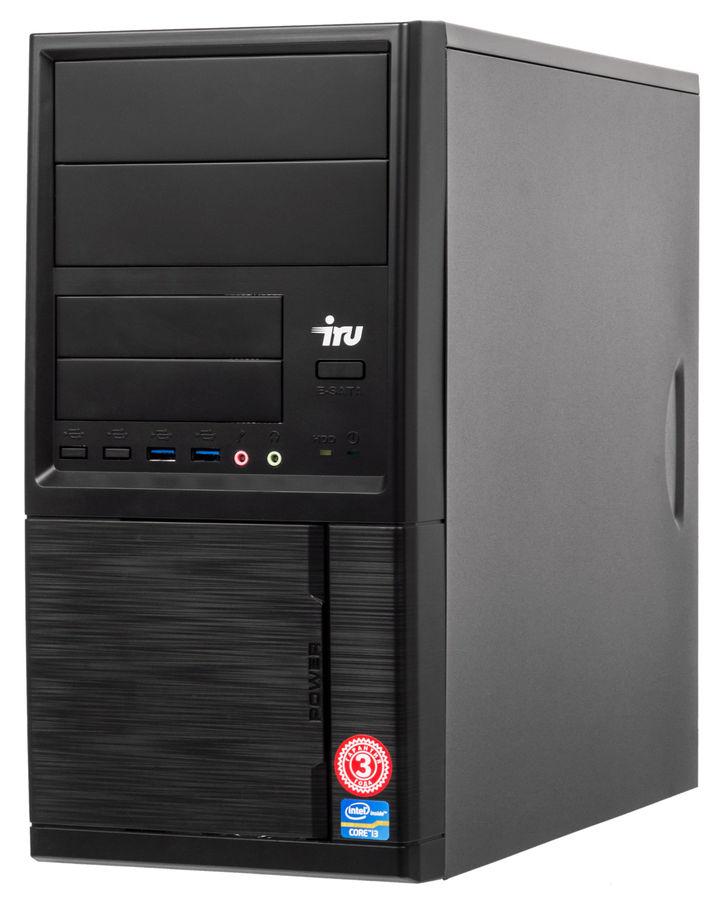 Компьютер  IRU Office 312,  Intel  Pentium  G4400,  DDR4 4Гб, 1Тб,  Intel HD Graphics 510,  Free DOS,  черный [492974]