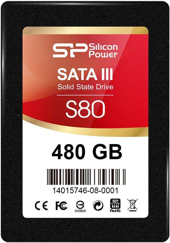 "SSD накопитель SILICON POWER Slim S80 SP480GBSS3S80S25 480Гб, 2.5"", SATA III"