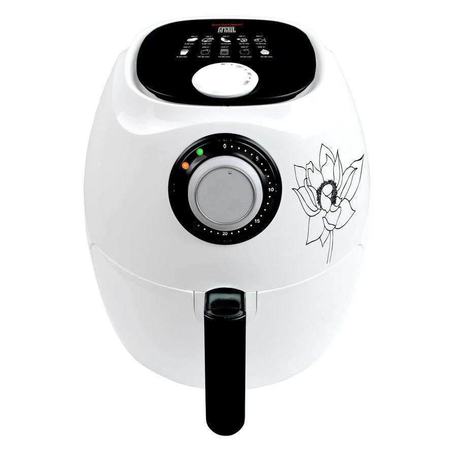 Аэрогриль GFGRIL GFA-2600,  белый и черный [gfa-2600 air fryer compact]