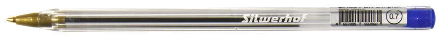 Купить Упаковка шариковых ручек SILWERHOF Simplex, 0.7мм, синий в интернет-магазине СИТИЛИНК, цена на Упаковка шариковых ручек SILWERHOF Simplex, 0.7мм, синий (493600) - Москва
