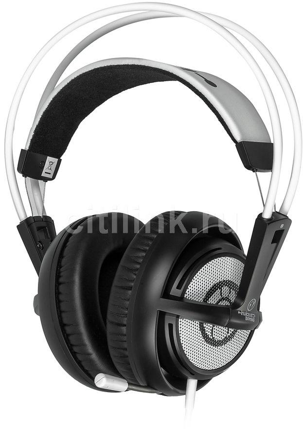 Наушники с микрофоном STEELSERIES Siberia v2 IG,  мониторы, белый  / черный [51145]