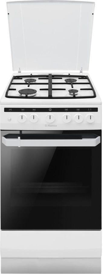 Газовая плита HANSA FCMW54121,  электрическая духовка,  белый