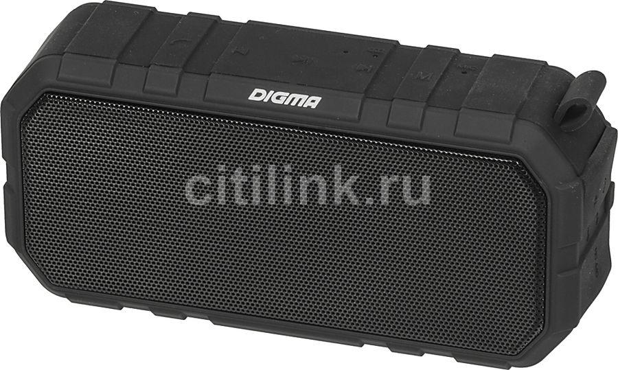 Портативная колонка DIGMA S-40,  10Вт, черный  [sp4010b]