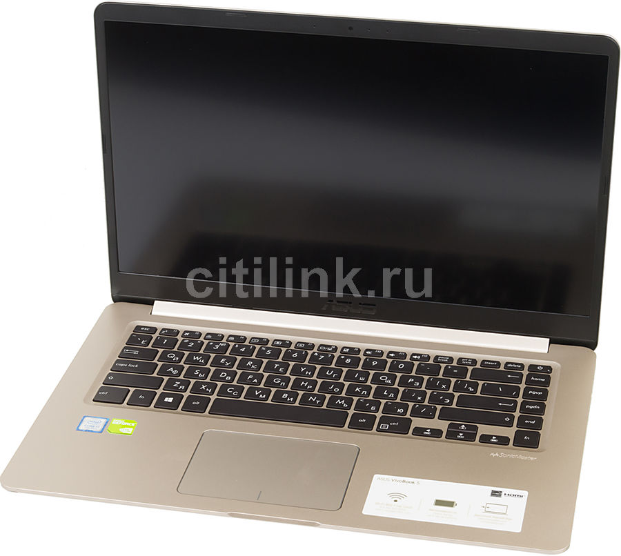 Ноутбук ASUS S510UN-BQ020T, 15.6, Intel Core i7 7500U 2.7ГГц, 8Гб, 1000Гб, 128Гб SSD, nVidia GeForce Mx150 - 2048 Мб, Windows 10, 90NB0GS1-M00410, золотистыйНоутбуки<br>экран: 15.6;  разрешение экрана: 1920х1080; процессор: Intel Core i7 7500U; частота: 2.7 ГГц (3.5 ГГц, в режиме Turbo); память: 8192 Мб, DDR4; HDD: 1000 Гб, 5400 об/мин; SSD: 128 Гб; nVidia GeForce Mx150 - 2048 Мб; WiFi;  Bluetooth; HDMI; WEB-камера; Windows 10<br>