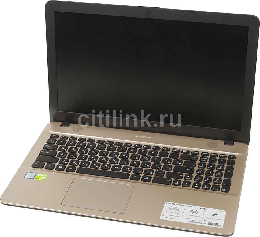 """Ноутбук ASUS X541UV-GQ988T, 15.6"""", Intel  Core i3  7100U 2.4ГГц, 4Гб, 500Гб, nVidia GeForce  920M - 2048 Мб, Windows 10, 90NB0CG1-M16270,  черный"""