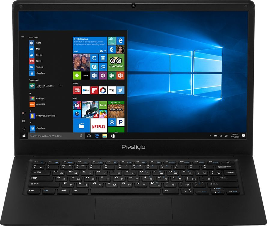 Ноутбук PRESTIGIO SmartBook 141C, 14.1, Intel Atom X5 Z8350 1.44ГГц, 2Гб, 32Гб SSD, Intel HD Graphics 400, Windows 10 Home, PSB141C01BFH_BK_CIS, черный ноутбук трансформер hp x2 detachable 10 p002ur 10 1 intel atom x5 z8350 1 44ггц 2гб 32гб ssd intel hd graphics 400 windows 10 белый [y5v04ea]