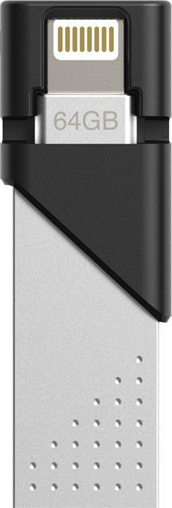 Флешка USB SILICON POWER Jewel Z50 32Гб, USB3.1, серебристый и черный [sp032gblu3z50v1s]