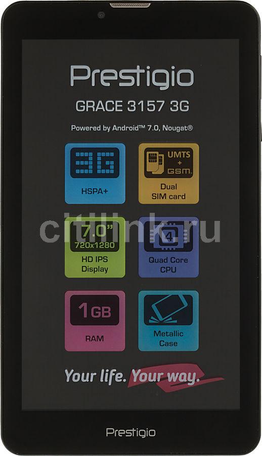 Планшет PRESTIGIO Grace 3157 3G,  1GB, 8GB, 3G,  Android 7.0 черный [lhpmt31573gccis]
