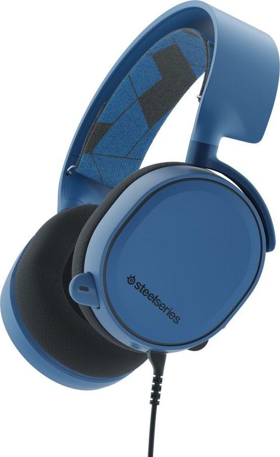 Наушники с микрофоном STEELSERIES Arctis 3,  мониторы, синий  [61436]