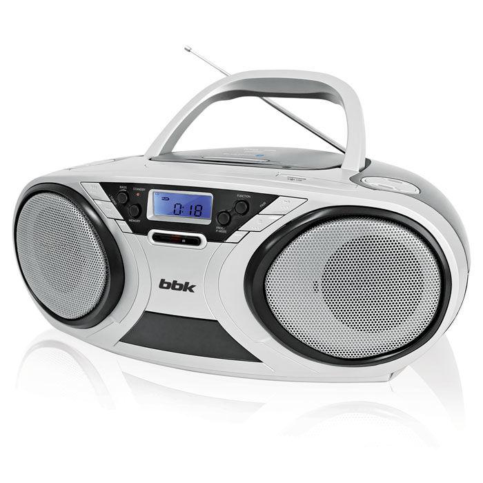 Аудиомагнитола BBK BX516BT,  белый и черный