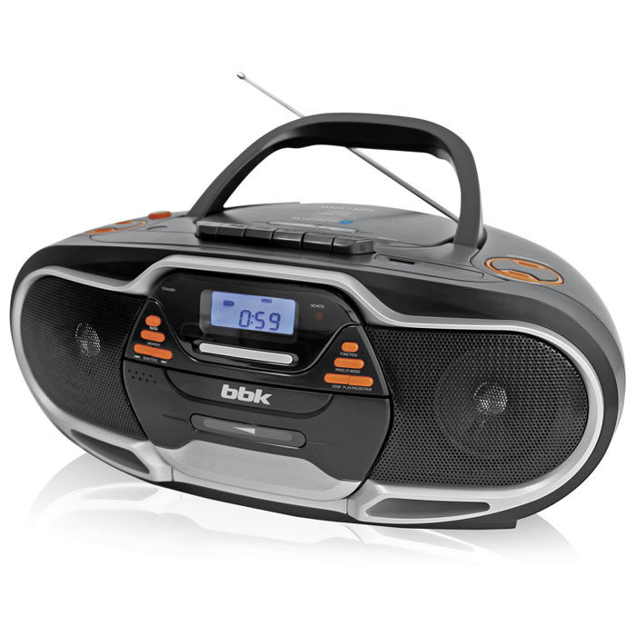 Аудиомагнитола BBK BX518BT,  черный и серебристый