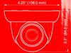 Видеокамера IP HONEYWELL HED1PR3,  2.8 мм,  белый вид 7