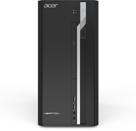 Компьютер ACER Veriton ES2710G, Intel Core i3 7100, DDR4 4Гб, 1000Гб, AMD Radeon R7 430 - 2048 Мб, Windows 10, черный [dt.vqeer.037] компьютер iru home 310 intel core i3 7100 ddr4 4гб 1тб amd radeon rx 460 2048 мб dvd rw windows 10 home черный [435302]