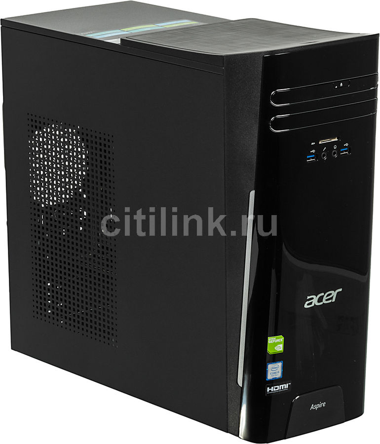 Компьютер ACER Aspire TC-780, Intel Core i5 7400, DDR4 8Гб, 1000Гб, NVIDIA GeForce GT1030 - 2048 Мб, DVD-RW, CR, Windows 10, черный [dt.b89er.022] ноутбук hasee 14 intel i3 3110m dvd rw nvidia geforce gt 635m intel gma hd 4000 2 g k460n