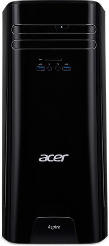 Компьютер ACER Aspire TC-780, Intel Core i5 7400, DDR4 8Гб, 1000Гб, NVIDIA GeForce GT1030 - 2048 Мб, DVD-RW, CR, Free DOS, черный [dt.b89er.026] ноутбук hasee 14 intel i3 3110m dvd rw nvidia geforce gt 635m intel gma hd 4000 2 g k460n