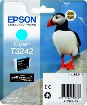 Картридж EPSON T3242 голубой [c13t32424010]