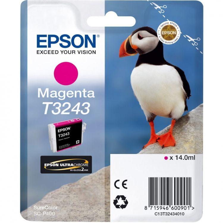 Картридж EPSON T3243 пурпурный [c13t32434010]