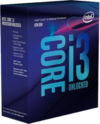 Процессор INTEL Core i3 8350K, LGA 1151v2 BOX [bx80684i38350k s r3n4]