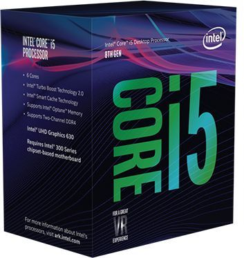 Процессор INTEL Core i5 8400, LGA 1151v2 BOX [bx80684i58400 s r3qt]