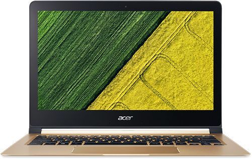 Ультрабук ACER Swift 7 SF713-51-M4HA, 13.3, Intel Core i5 7Y54, 1.2ГГц, 8Гб, 256Гб SSD, Intel HD Graphics 615, Windows 10, золотистый [nx.gn2er.001]Ноутбуки<br>экран: 13.3;  разрешение экрана: 1920х1080; тип матрицы: IPS; процессор: Intel Core i5 7Y54; частота: 1.2 ГГц (3.2 ГГц, в режиме Turbo); память: 8192 Мб, LPDDR3; SSD: 256 Гб; Intel HD Graphics 615; WiFi;  Bluetooth;  WEB-камера; Windows 10<br><br>Линейка: Swift 7