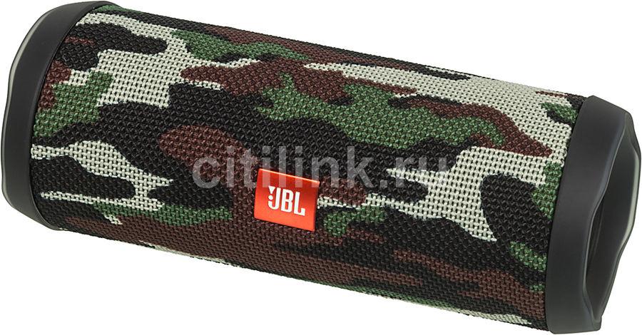 Колонка порт. JBL FLIP 4 SQUAD камуфляж 16W 2.0 BT/3.5Jack 3000mAh (JBLFLIP4SQUAD) (отремонтированный)