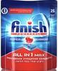 Средство для мытья посуды FINISH All in 1Max, для посудомоечных машин, 25