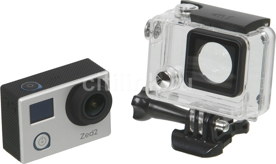 Экшн-камера AC ROBIN ZED2 2.5K,  серебристый [ак-00000753]