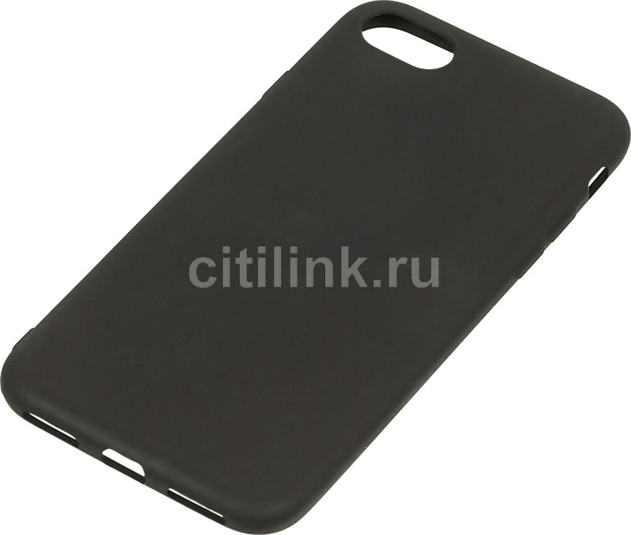 Чехол (клип-кейс) DF iColorCase-01 (black), для Apple iPhone 7, черный apple чехол клип кейс apple для apple iphone 7 mmy52zm a черный