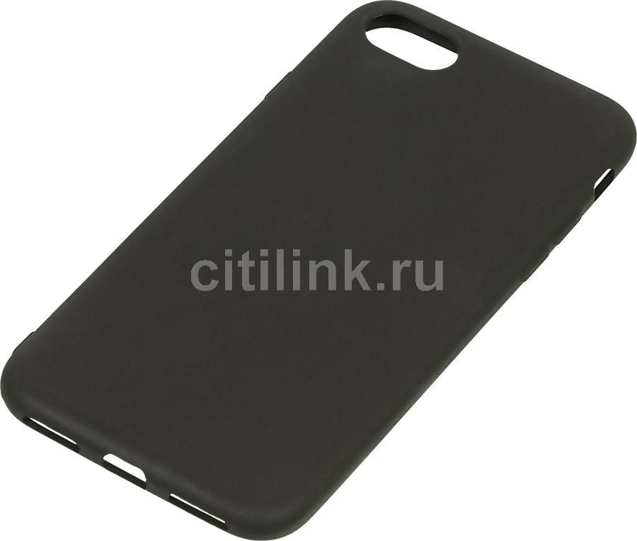 Чехол (клип-кейс) DF iColorCase-01 (black), для Apple iPhone 7, черный