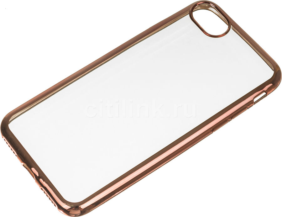 Чехол (клип-кейс) DF iCase-08, для Apple iPhone 7, прозрачный [df icase-08 (rose gold)] apple чехол клип кейс apple для apple iphone 7 mmy52zm a черный