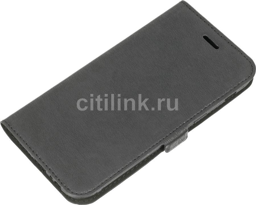 Чехол (флип-кейс) DF sFlip-14, для Samsung Galaxy A5 (2017), черный [df sflip-14 (black)]