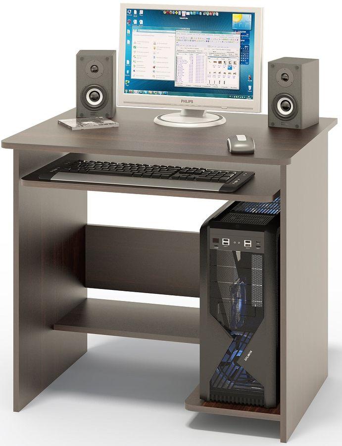Стол компьютерный  СОКОЛ КСТ01.1Вк,  ЛДСП,  венге
