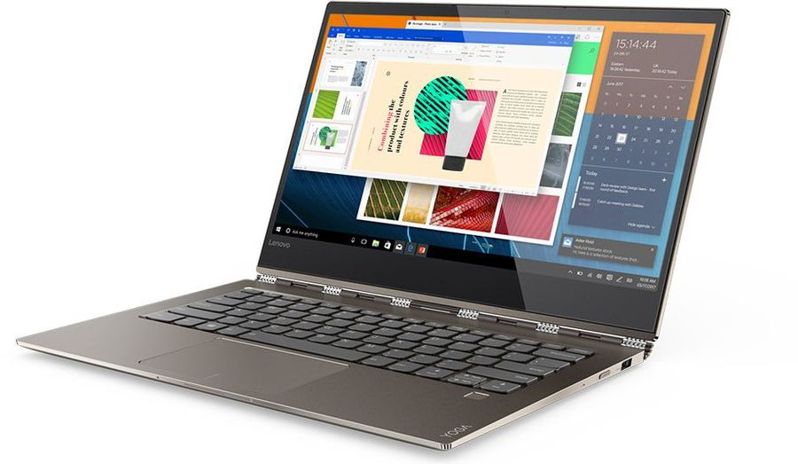 Ноутбук-трансформер LENOVO YOGA 920-13IKB, 13.9, Intel Core i7 8550U 1.8ГГц, 8Гб, 256Гб SSD, Intel HD Graphics 620, Windows 10, медный [80y7001trk] ультрабук dell xps 13 13 3 intel core i7 8550u 1 8ггц 8гб 256гб ssd intel hd graphics 620 windows 10 professional серебристый [9360 0018]
