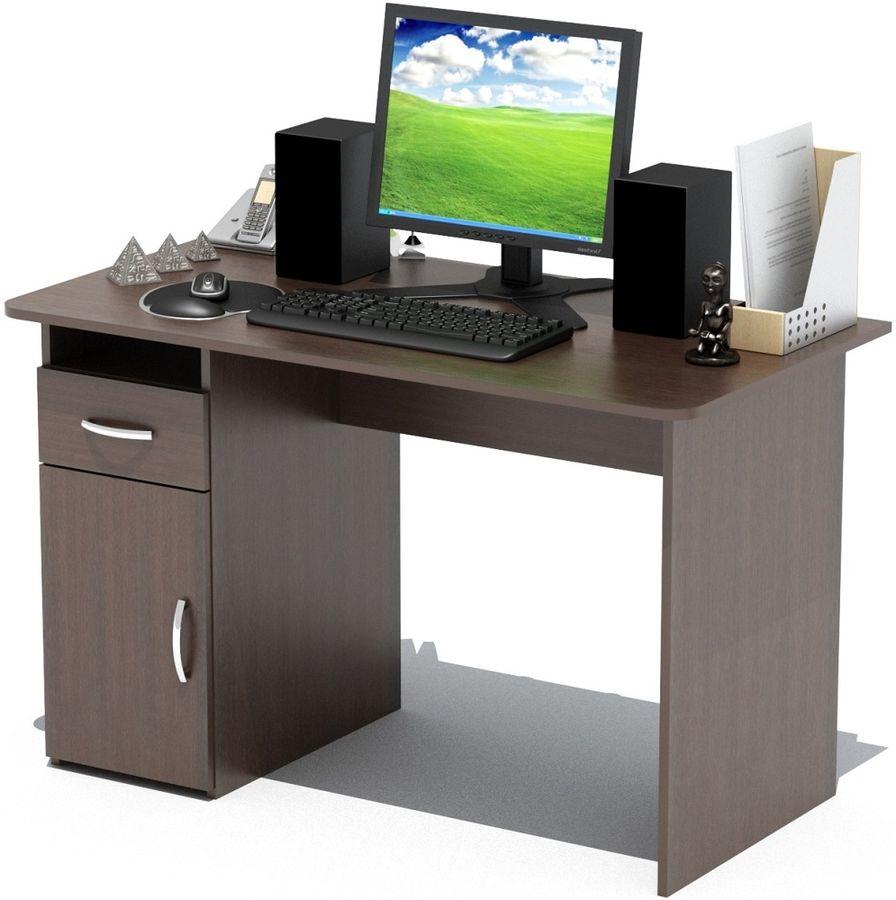 Стол компьютерный  СОКОЛ СПм03.1 Вк,  ЛДСП,  венге