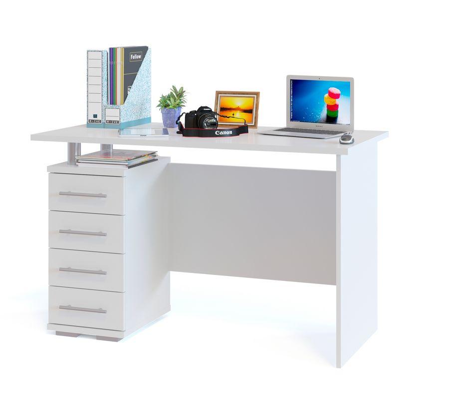 Стол компьютерный  СОКОЛ КСТ106.1Б,  ЛДСП,  белый