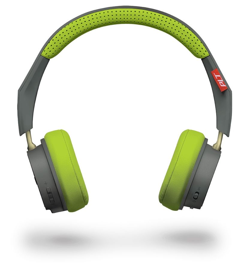Наушники с микрофоном PLANTRONICS BackBeat 500, 3.5 мм/Bluetooth, накладные, серый/зеленый [207850-01]