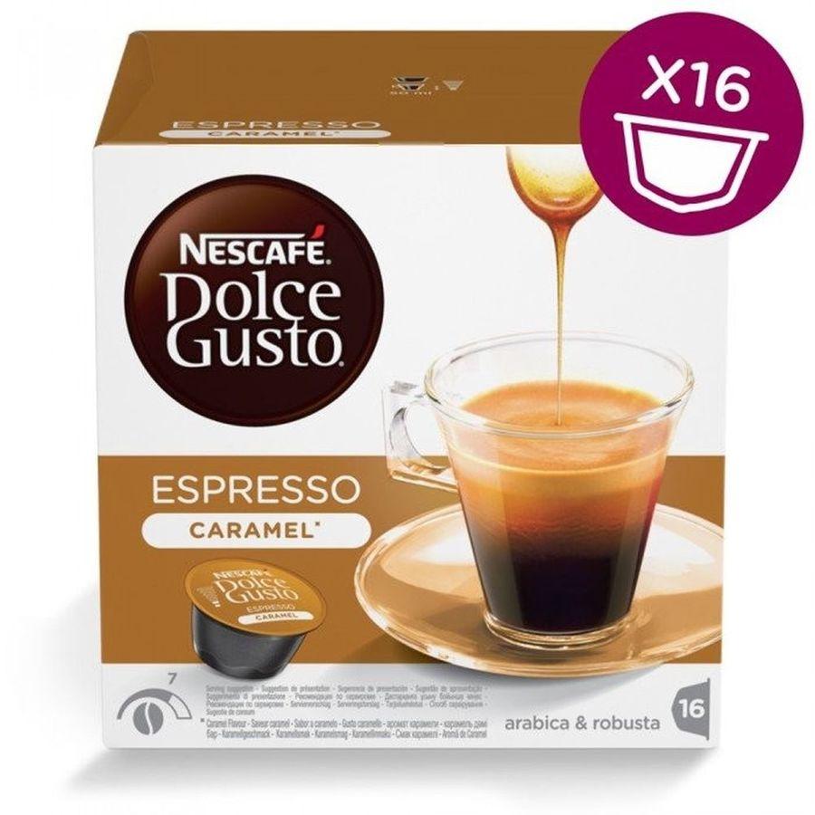 Кофе капсульный DOLCE GUSTO Espresso Caramel,  капсулы, совместимые с кофемашинами DOLCE GUSTO®, 83.2грамм [12128780]