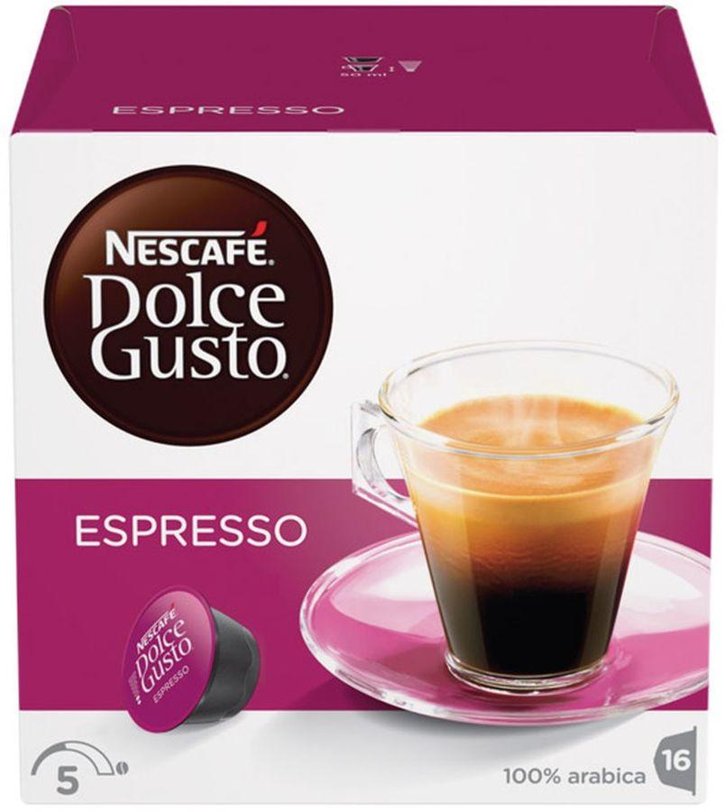Кофе капсульный DOLCE GUSTO Espresso,  капсулы, совместимые с кофемашинами DOLCE GUSTO®, 96грамм [5219839]