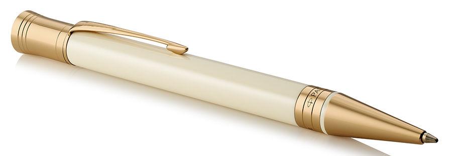 Ручка шариковая Parker Duofold K74 (1931396) Ivory/Black GT M черные чернила подар.кор.