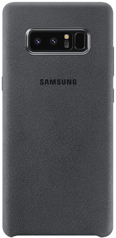 Чехол (клип-кейс) SAMSUNG Alcantara Cover Great, для Samsung Galaxy Note 8, темно-серый [ef-xn950ajegru] protective silicone back case w stand for samsung galaxy note 3 translucent grey white