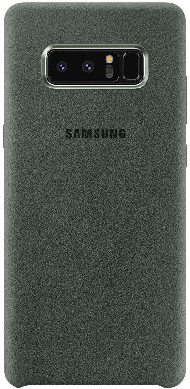 Чехол (клип-кейс) SAMSUNG Alcantara Cover Great, для Samsung Galaxy Note 8, хаки [ef-xn950akegru] protective silicone back case w stand for samsung galaxy note 3 translucent grey white
